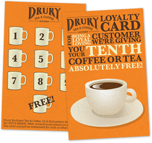 Drury loyalty punch card