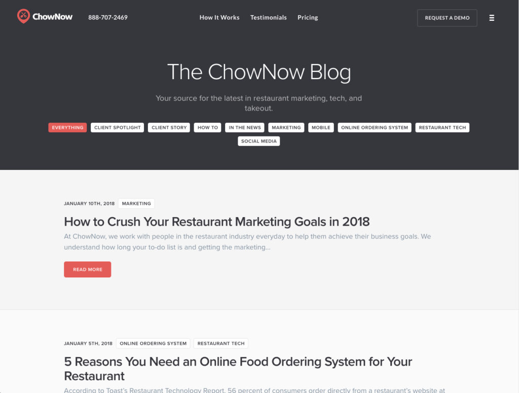 best restaurant management blogs - chownow blog behind the counter