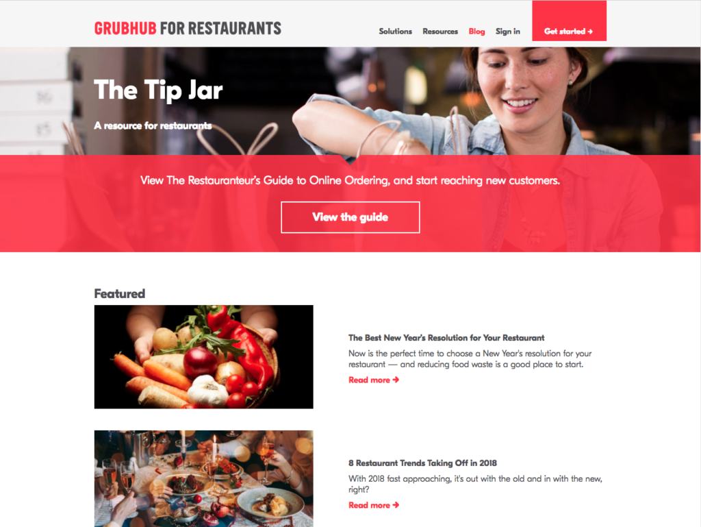 best restaurant management blogs - grubhub for restaurants blog