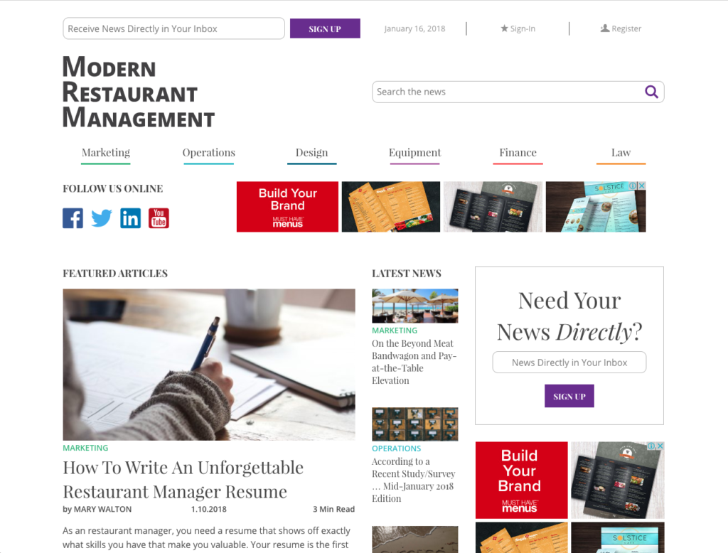 best restaurant management blogs - modern restaurant management