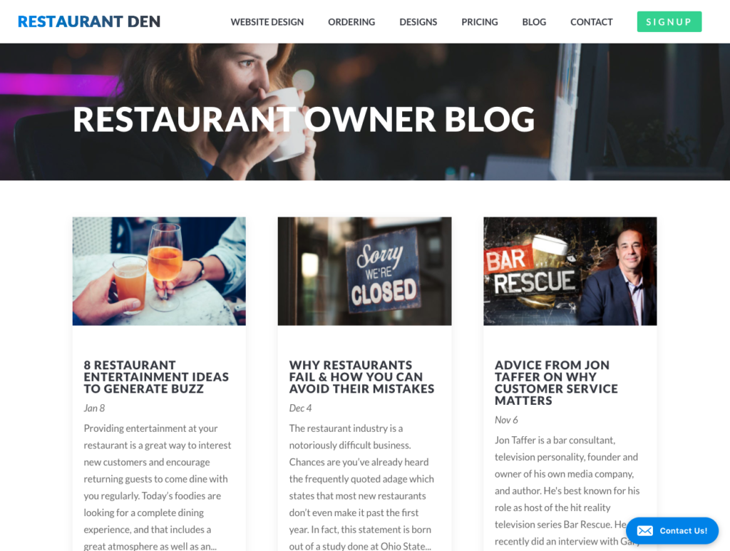 best restaurant management blogs - restaurant den restaurant owner blog