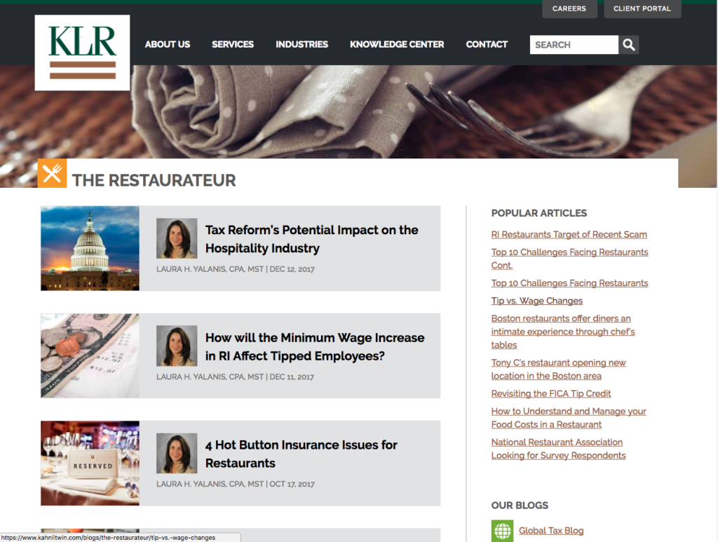 best restaurant management blogs - the restauranteur