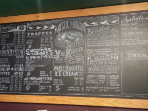 chalkboard menu kingston
