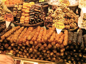 sausage candies in Istanbul