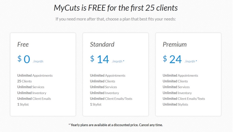 My Cuts Pricing