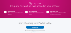 PayPal Signup