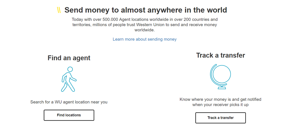 Western Union Features