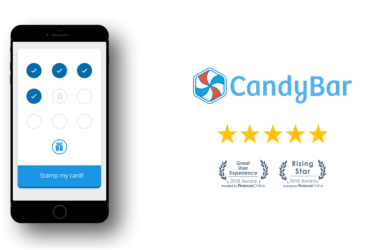 candybar awarded for great user experience and rising star marketing software