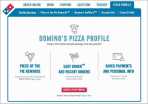 dominos loyalty program - piece of the pie loyalty rewards