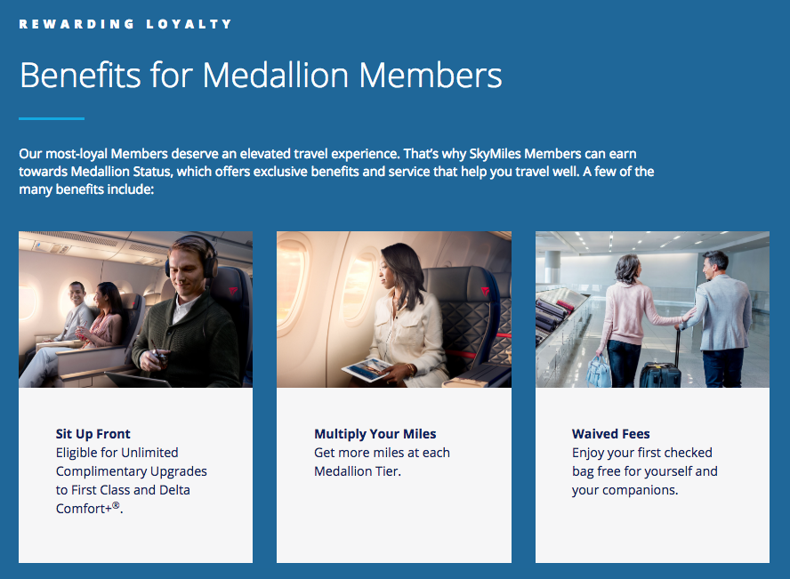 delta loyalty program - medallion members benefits