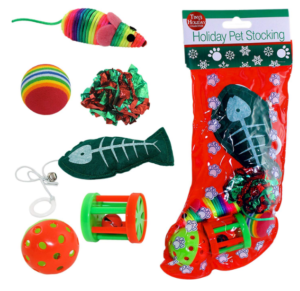 Christmas ideas for pets - cat stocking