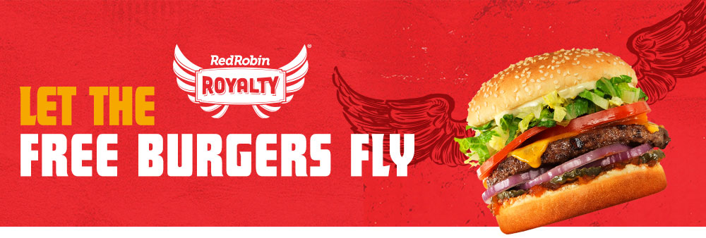 red robin royalty loyalty program - free burgers