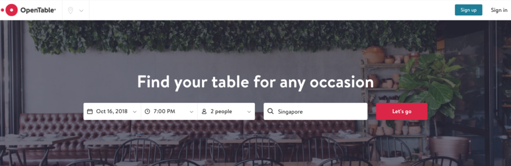 restaurant management apps - opentable
