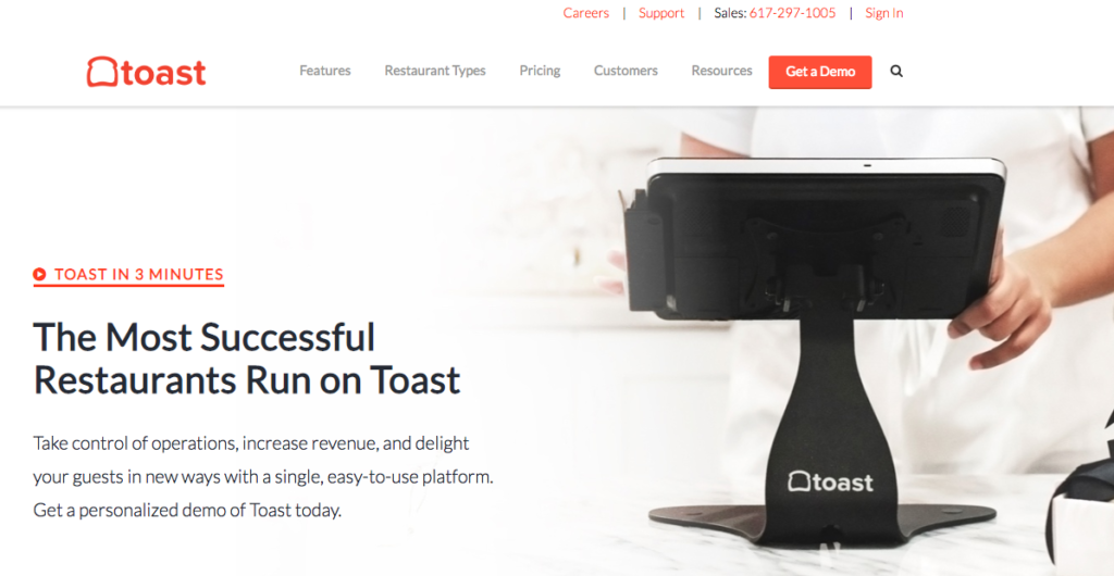 restaurant management apps - toast POS