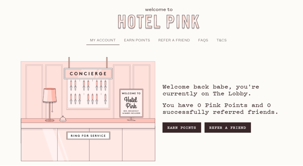 why hotel pink loyalty program effective - frank body coffee scrub