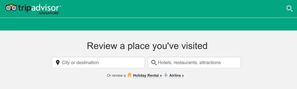 Leave a review on TripAdvisor