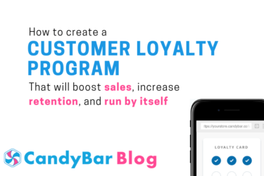 how to create a customer loyalty program - candybar loyalty punchcard rewards repeat customers