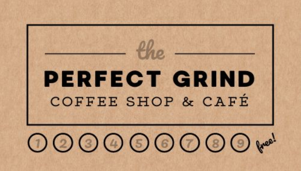 cafe punch card template front