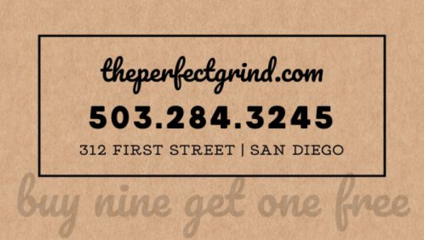 cafe punch card template