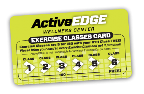 fitness loyalty punch card
