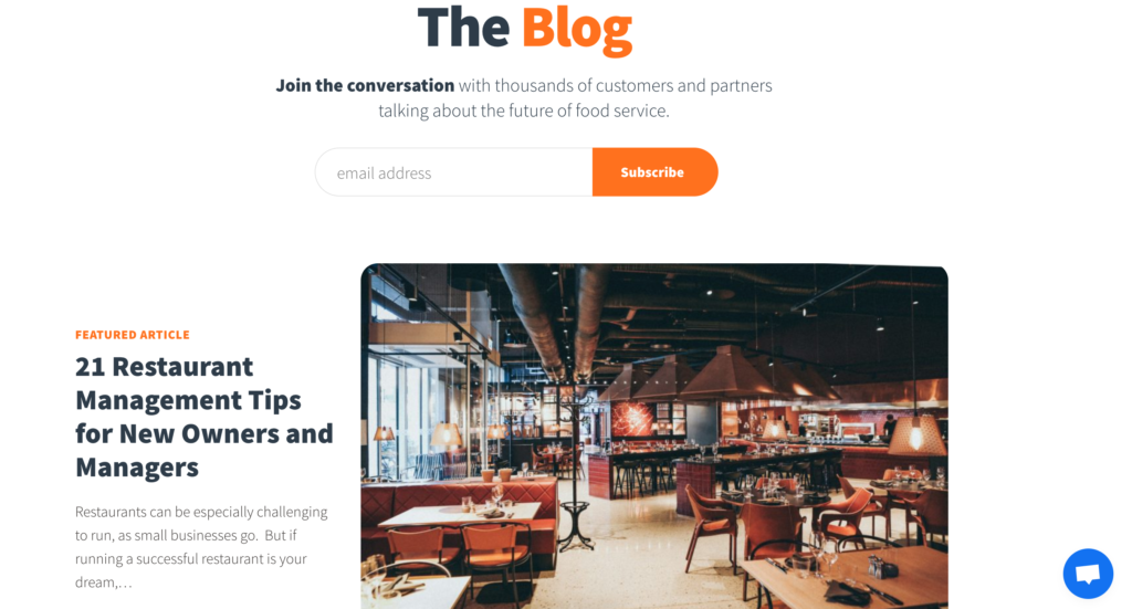 best restaurant blogs 2ndkitchen software service candybar