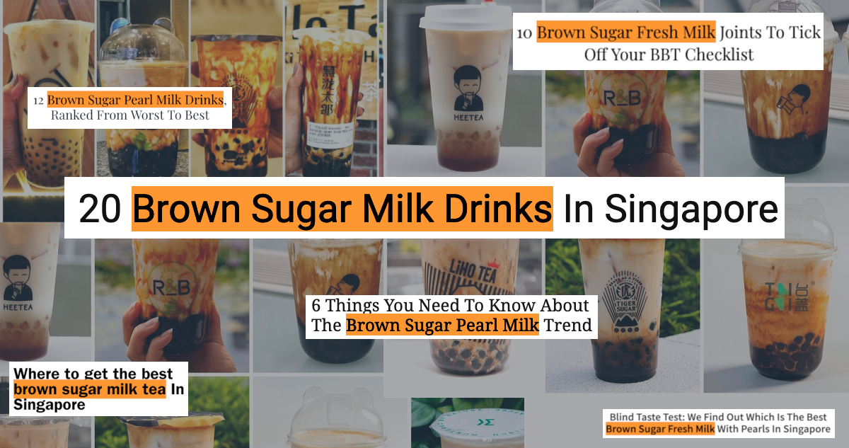 fruce merchant stories brown sugar fresh milk drink singapore creativity