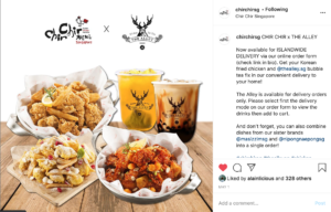 Chir Chir Fusion Chicken Factory partnered up with bubble tea brand The Alley to offer boba and fried chicken to their delivery customers