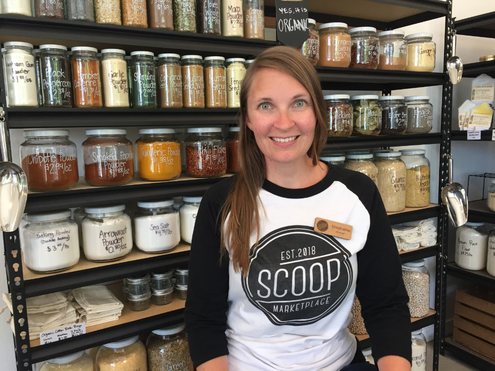 stephanie owner of scoop marketplace in seattle zero waste grocery store