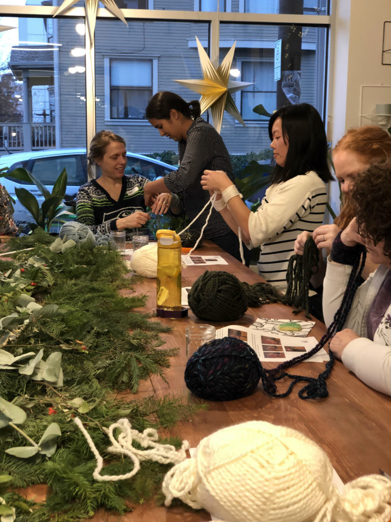 A seasonal Christmas workshop at The Works DIY School for Adults in Seattle