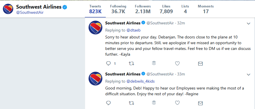 southwest airlines twitter customer service needs-based types of customers small business