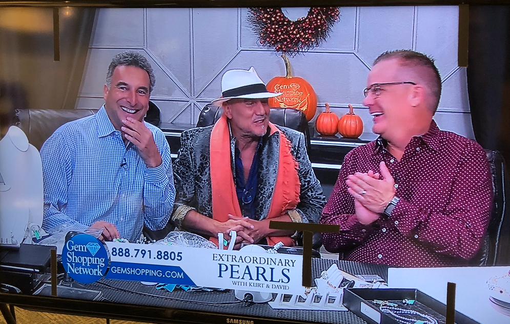 David appearing on a US TV Network selling Pearls